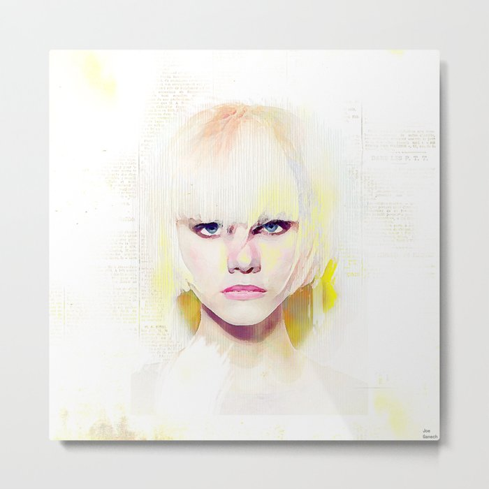 The girl who refuses the fear Metal Print