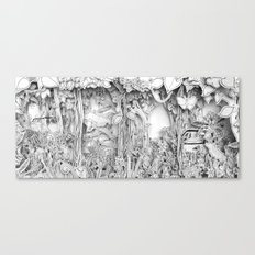 Cars in the Wild (3D version) Canvas Print