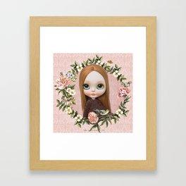 ERREGIRO BLYTHE DOLL ROBINNE FLOWER CROWN Framed Art Print