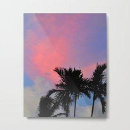 Sunset in Miami #photography#pinksky #sunset Metal Print