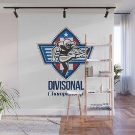 American Football Divisional Championship Wall Mural