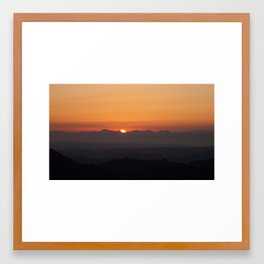 Moses Mountain Sunrise Framed Art Print
