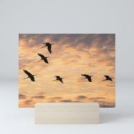Flight Formation Mini Art Print