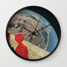 The World is Crowded Wall Clock