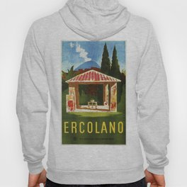 Ercolano Naples Italian summer travel ad Hoody