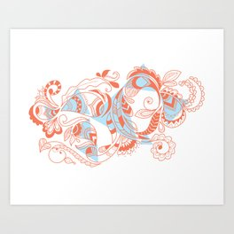Tribal Paisley Art Print
