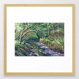 Lazy River at Dun na Ri Framed Art Print