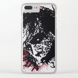 Joker paint Clear iPhone Case