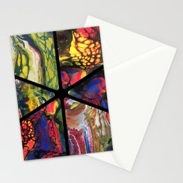 Neon Abstract Stationery Cards