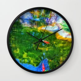 Glowing Reflecting Pond Wall Clock
