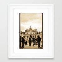 postcard Framed Art Prints featuring Postcard by Gaby Arauz