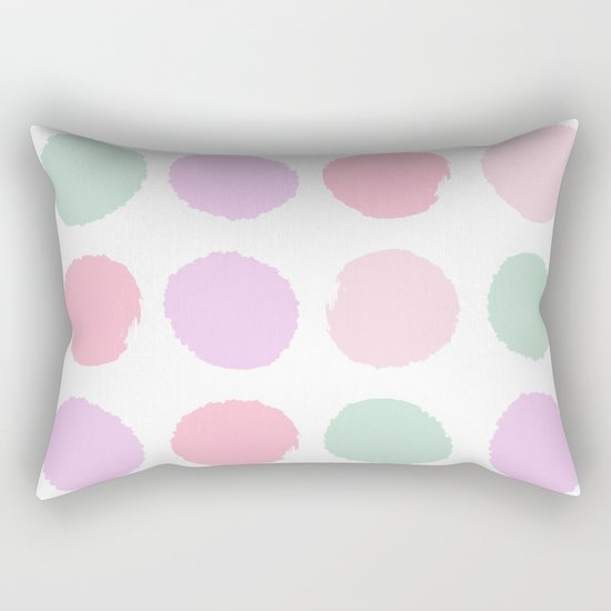 Dots pastels modern minimal dorm college office minimalist decor Rectangular Pillow