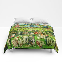 The Garden of Earthly Delights Triptych by Hieronymus Bosch Comforters