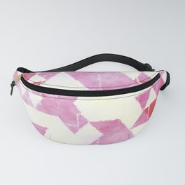 Abstract Pink Triangles, Watercolor Pattern Fanny Pack