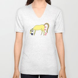 BB&PPINC Horse Hug - Charcoal Unisex V-Neck