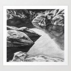 Pinnacles Reservoir Art Print