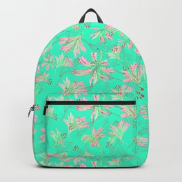 Floral lace Minty green Backpack