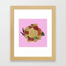 Pink Fruit Framed Art Print