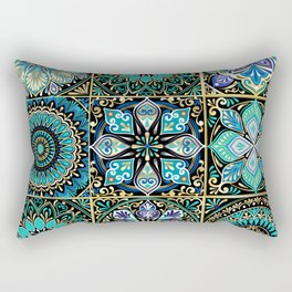 Colorful floral seamless pattern from squares Rectangular Pillow