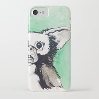 gizmo iPhone & iPod Cases featuring Gizmo Holiday by Lacey Hunt Art
