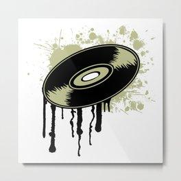 Vinyl Splatter Metal Print