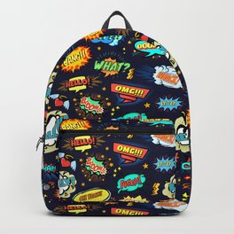 Retro Vintage Comic Book Speech Bubbles Design Backpack