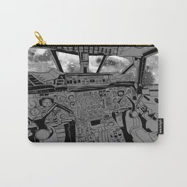 SpaceJet (B/W) Carry-All Pouch