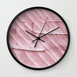 Rosy brown clouded watercolor pattern Wall Clock