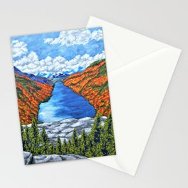 A View of the Blue Mountains of the Adirondacks Stationery Cards
