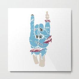 Zombie Hand Rocker Shirt Rock Heavy Metal Metal Print