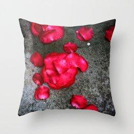 Fallen Rose Throw Pillow