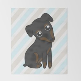Rylee the Min Pin Throw Blanket