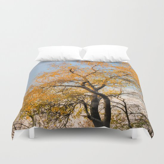 YELLOW TREE Duvet Cover