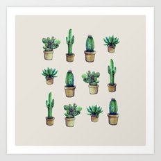 cactus original Art Print