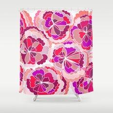 Floral Fuchsia Shower Curtain