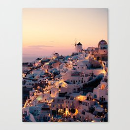 Sunset over the Village (Color) Canvas Print