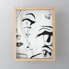 Eyes Framed Mini Art Print