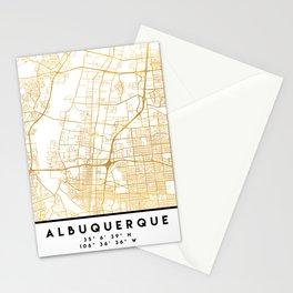 ALBUQUERQUE NEW MEXICO CITY STREET MAP ART Stationery Cards