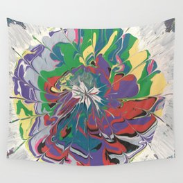 Acrylic Pour Over Swirl Wall Tapestry