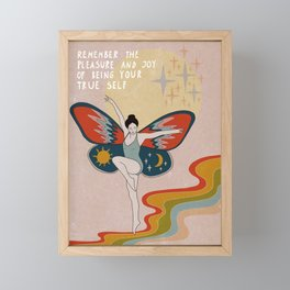Remember the pleasue Framed Mini Art Print