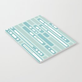 Ocean Reflection – Blue / Teal Midcentury Abstract Notebook