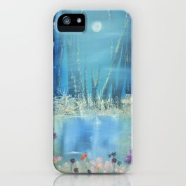 Nightfall at the pond iPhone Case