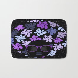 Afro Diva Purple Bath Mat