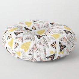 Moth's Diverse Beauty Pattern Floor Pillow