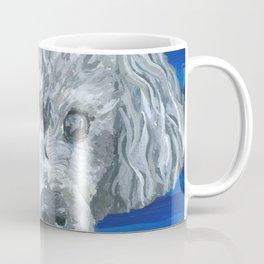 Beau the Poodle Pet Portrait Painting Coffee Mug