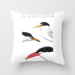 Turn! Turn! Turn! (Least Tern, Common Tern, Caspian Tern) Throw Pillow