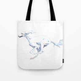 The Completely White Saluki  Tote Bag