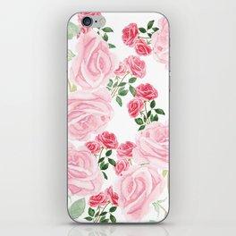 pink rose patterns iPhone Skin