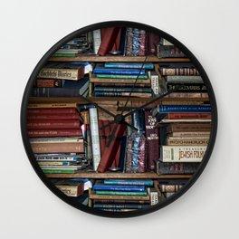 Books on a Shelf Wall Clock