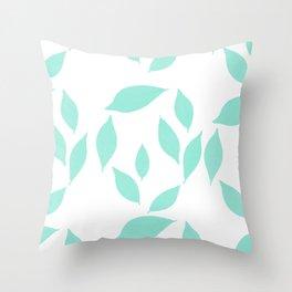 Autumn Leaves Pattern #2 #Mint #foliage #decor #art #society6 Throw Pillow